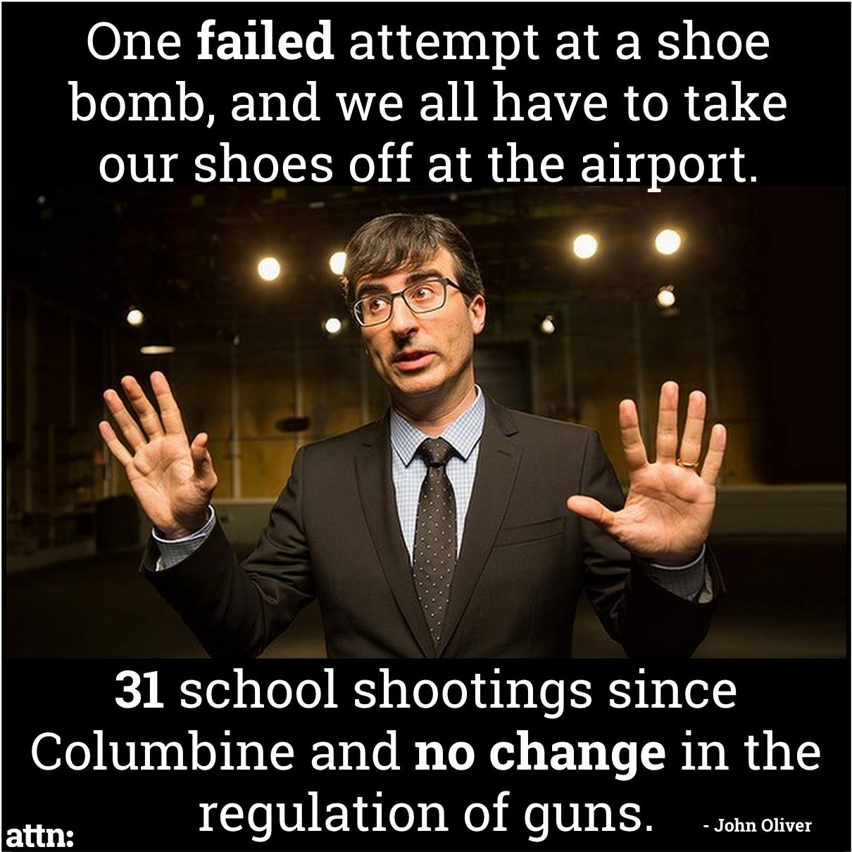 School Shooting Last Week: John Oliver Meme On Gun Control