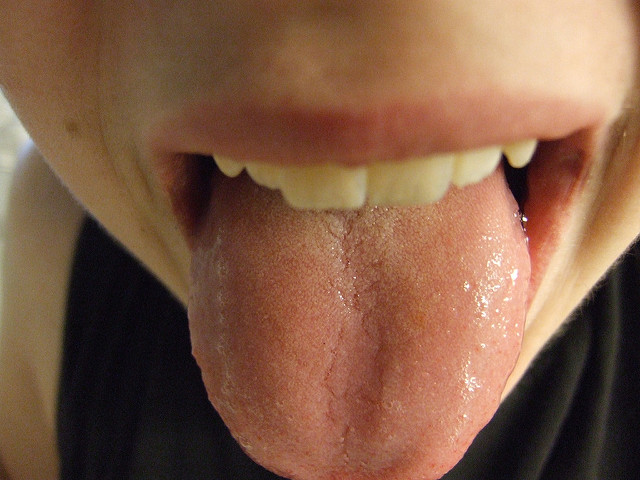 A woman's tongue.