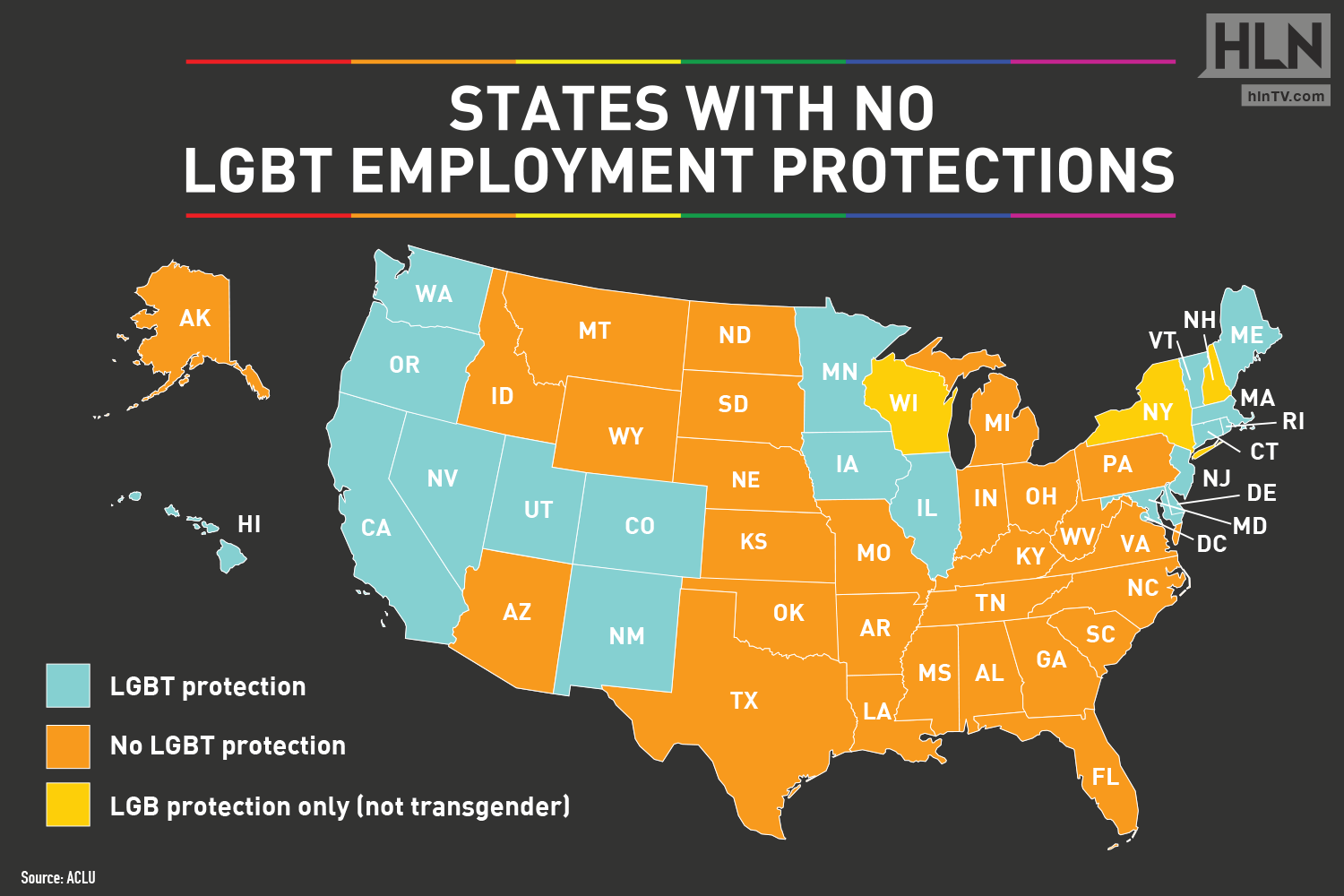 States With No LGBT Employment Protections