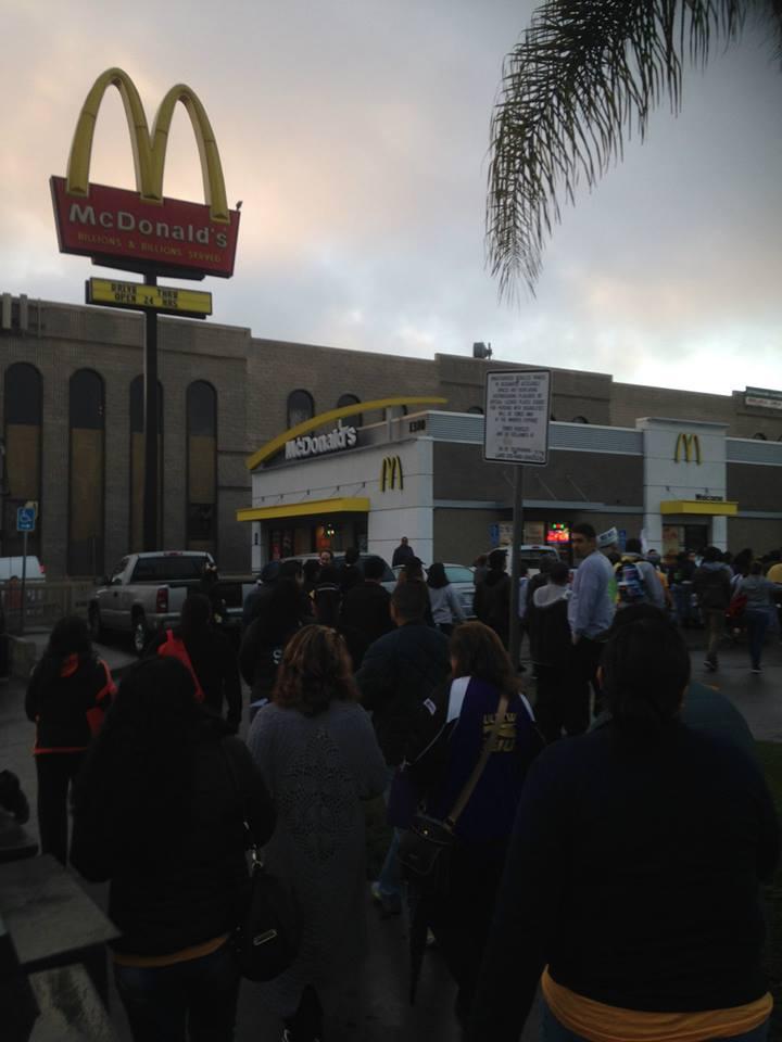 McDonald's Strike - Los Angeles, 12/4/14