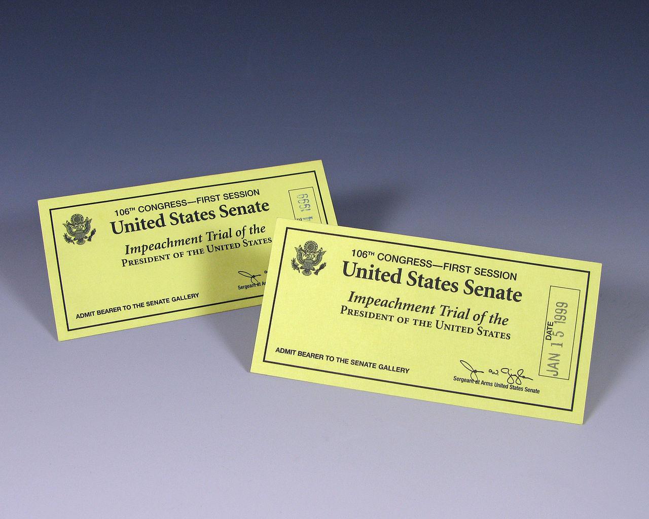Tickets to Bill Clinton's Impeachment