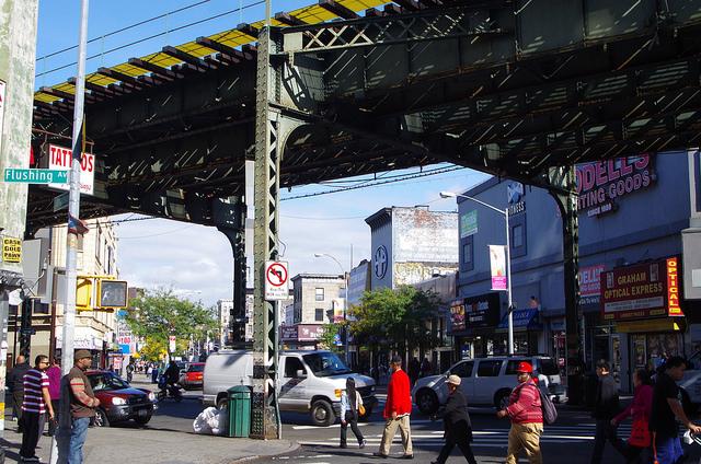 The Bushwick neighborhood of Brooklyn, New York.