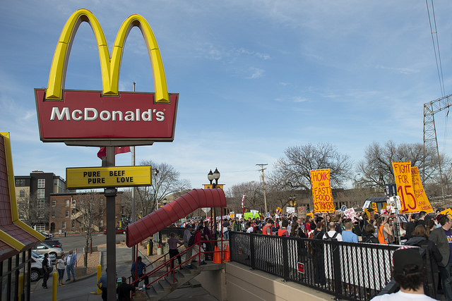 Fight for $15 Protest at a McDonald's