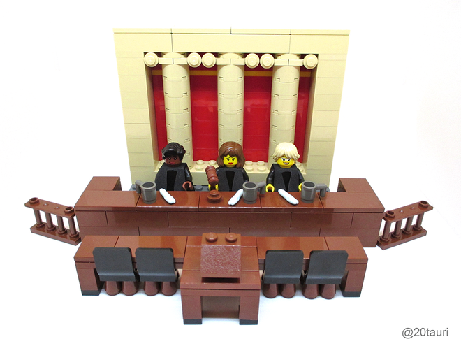 Maia Weinstock's Legal Justice Team Lego set