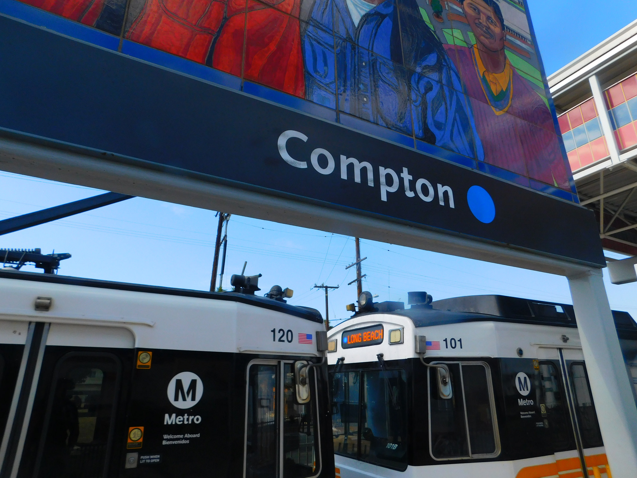 Compton Station provides limited transit access for citizens