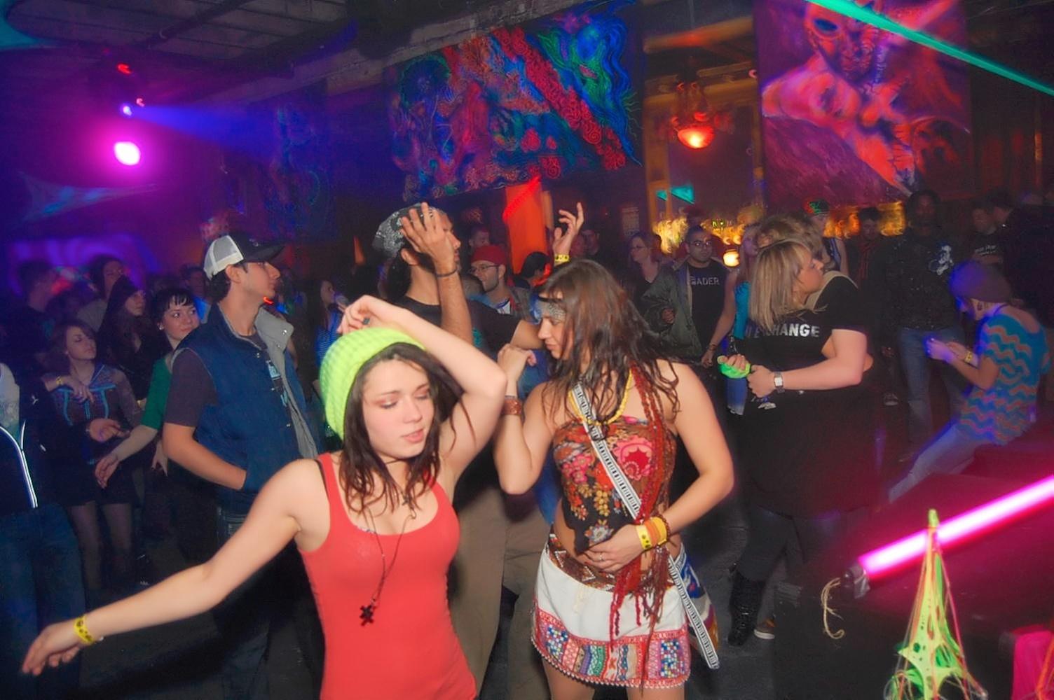 Scene from techno rave