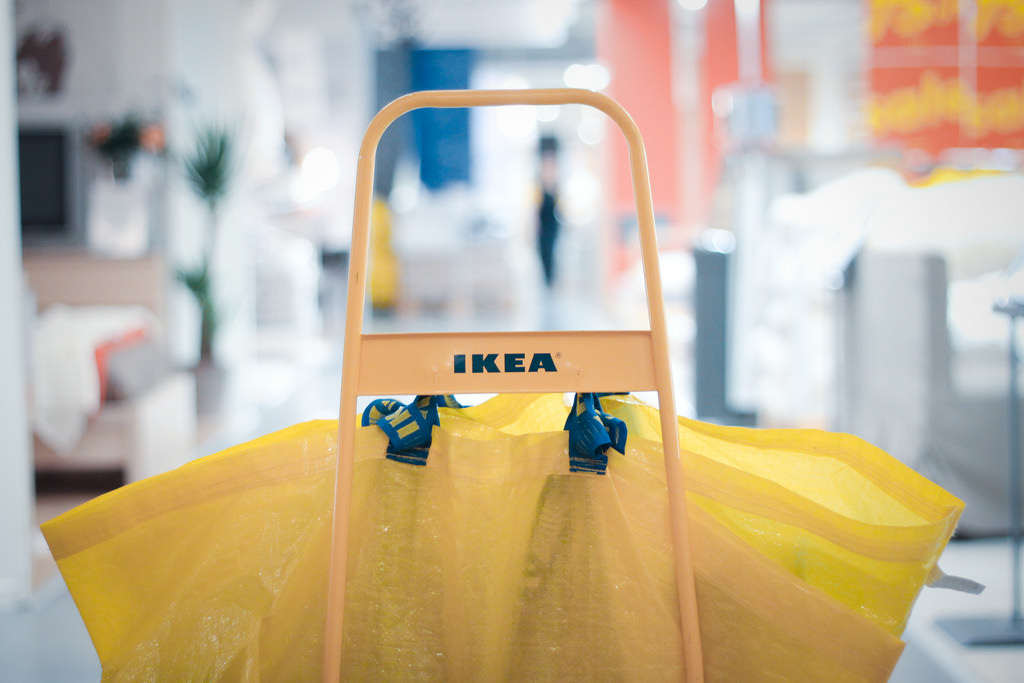 IKEA shopping bag in cart