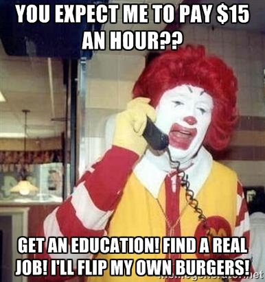 Anti-minimum wage meme