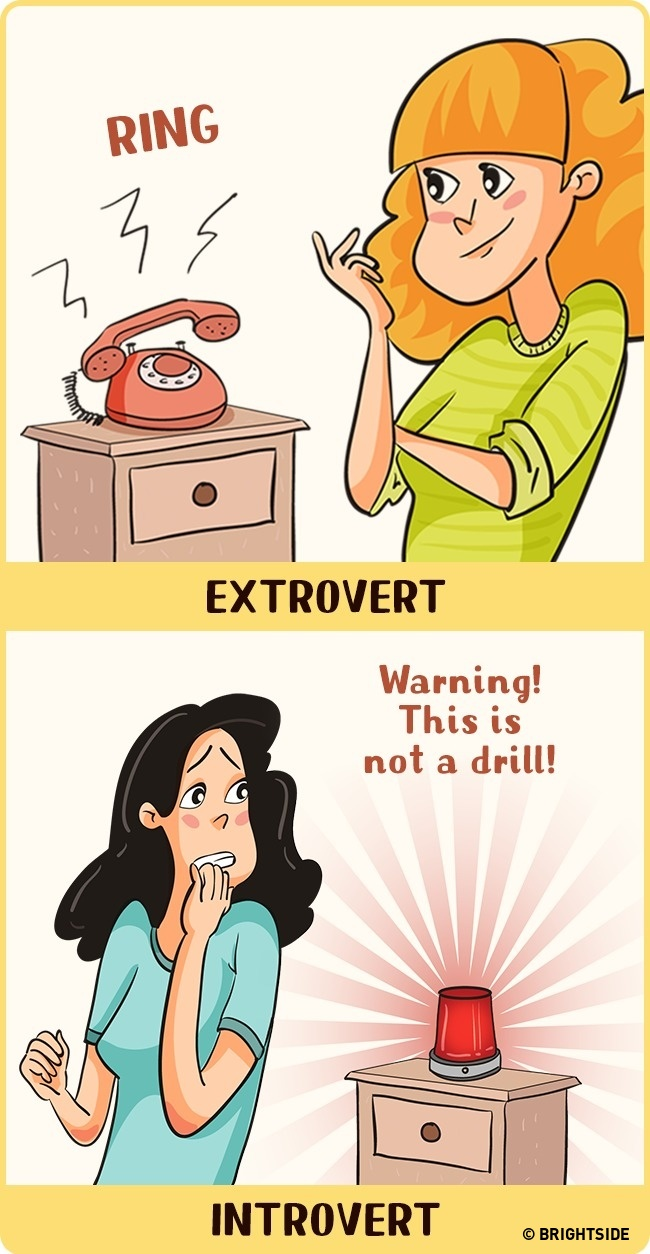 Phone calls for introverts and extroverts