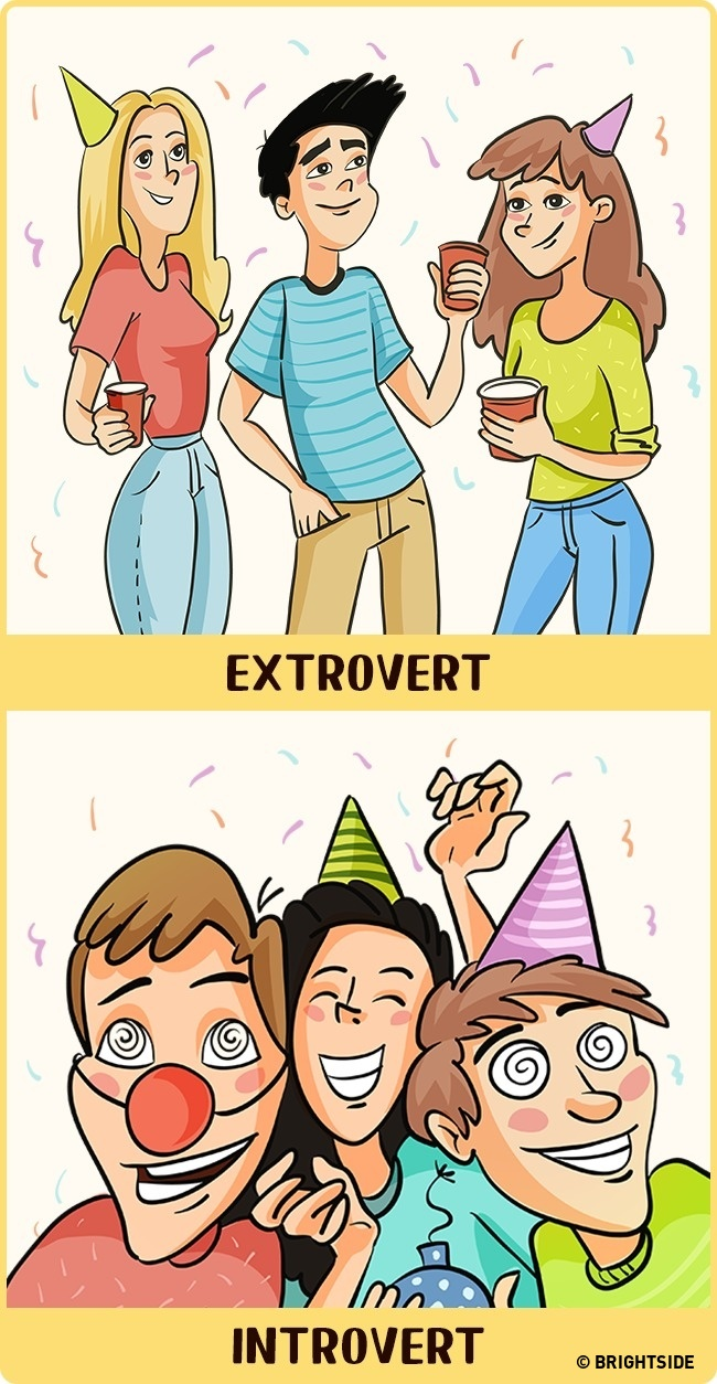 Parties for introverts and extroverts