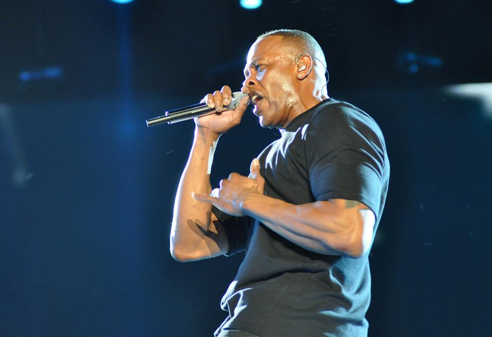 Dr. Dre performing at coachella