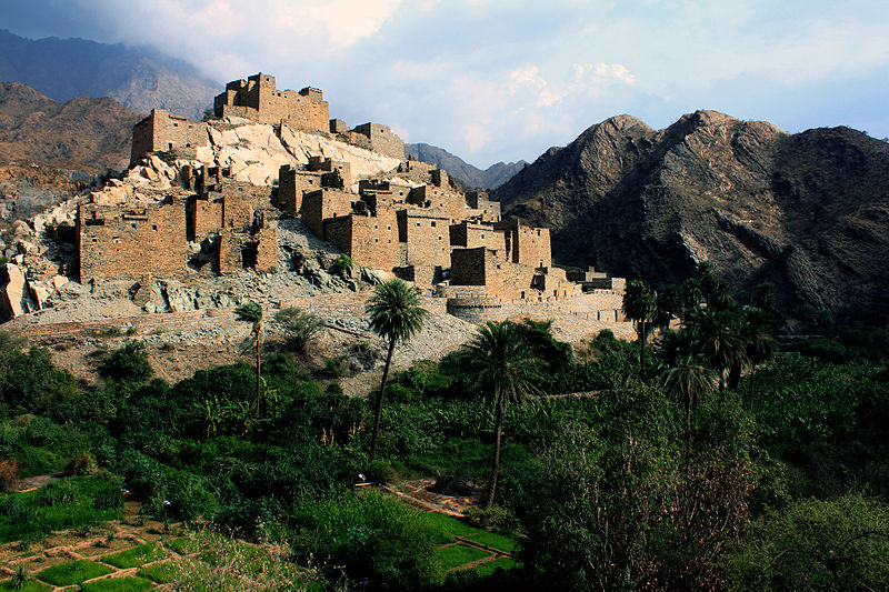 Saudi Arabian village