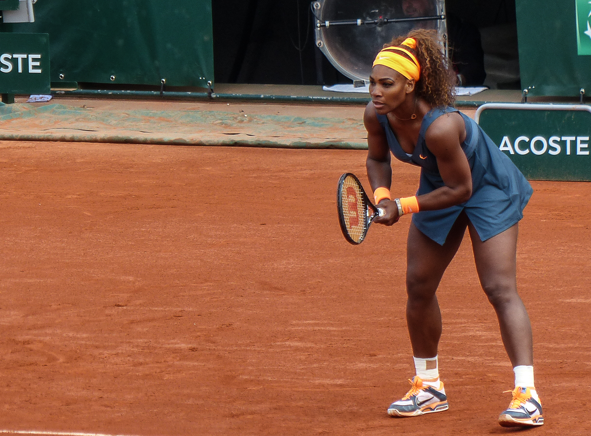 Serena Williams competing in France