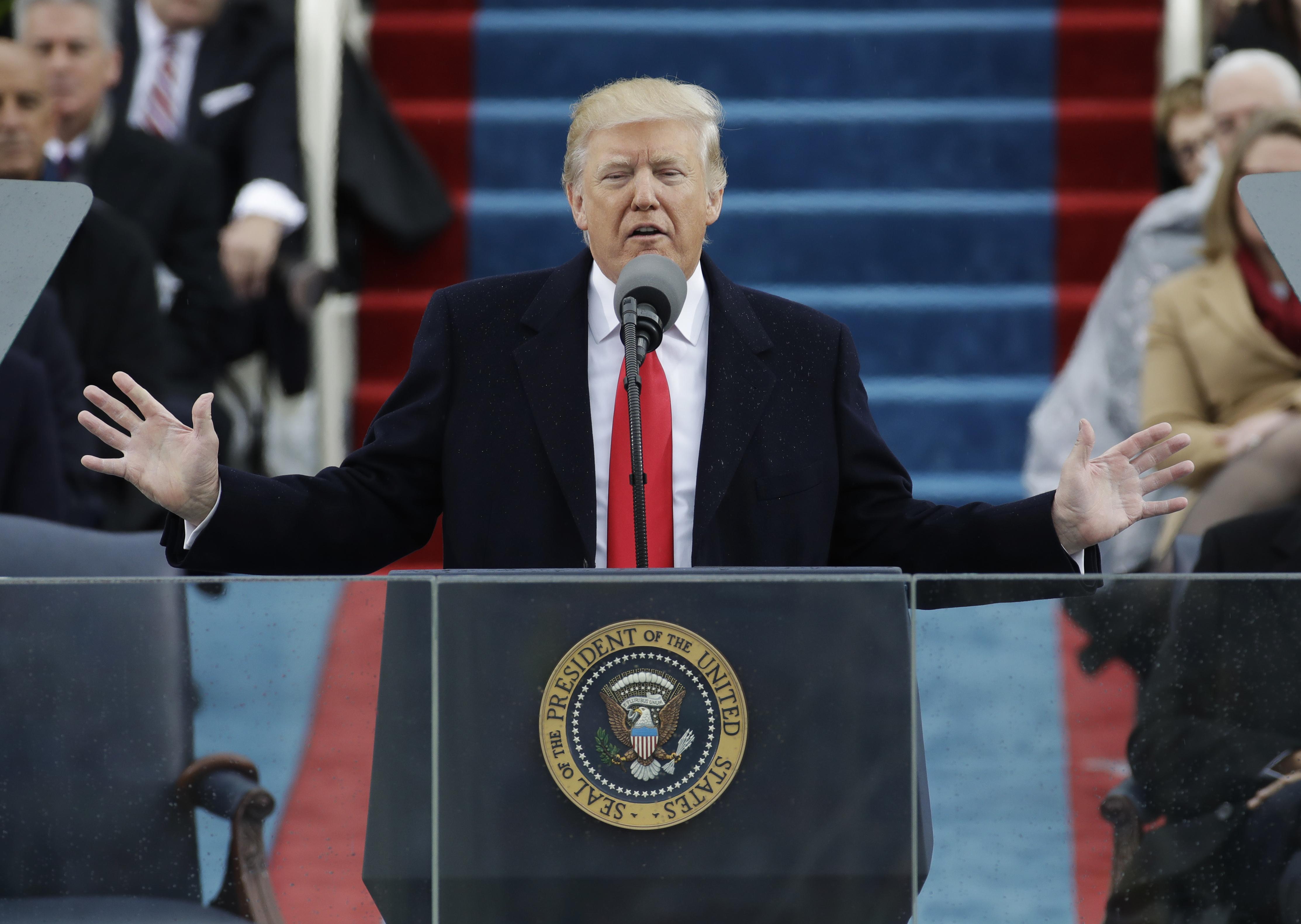 trump at inaugural