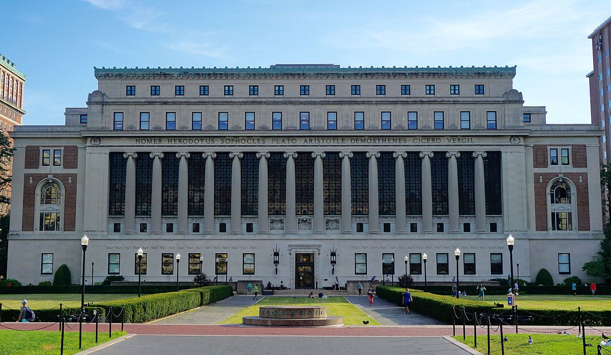 Butler library at Columbia University.