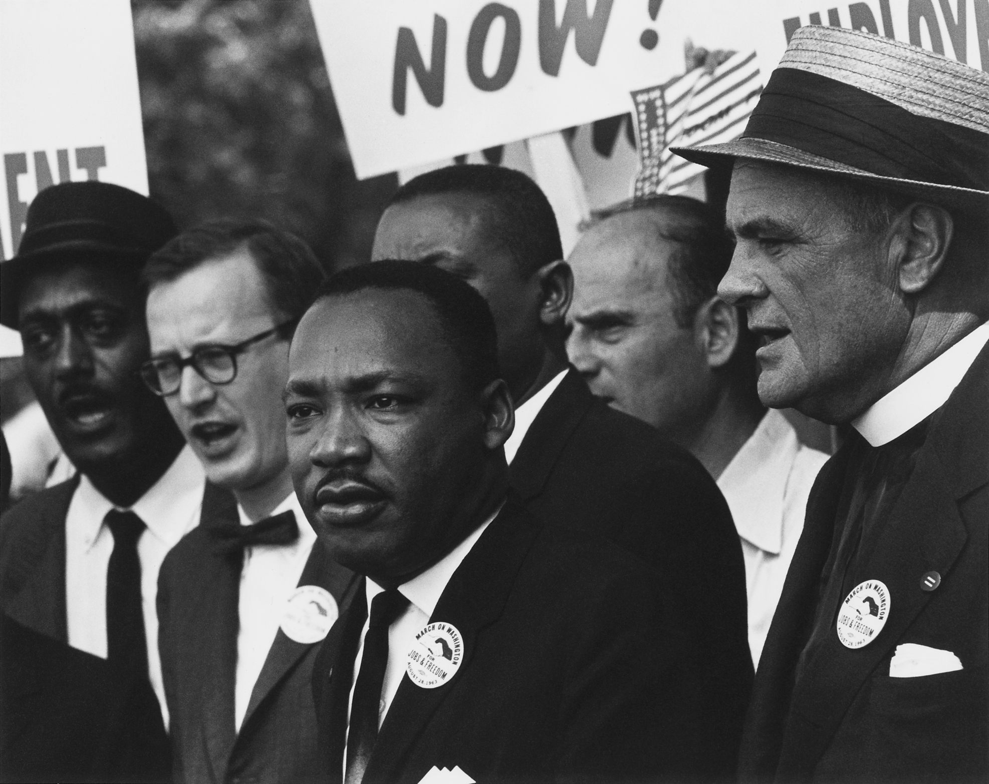Martin Luther King Jr. at a civil rights march in Washington, D.C. in 1963.