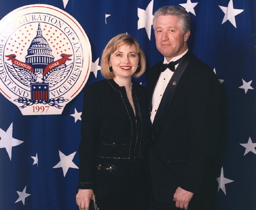 Teresa Barnwell, Pat Rick at the 1997 California Inaugural Ball in DC