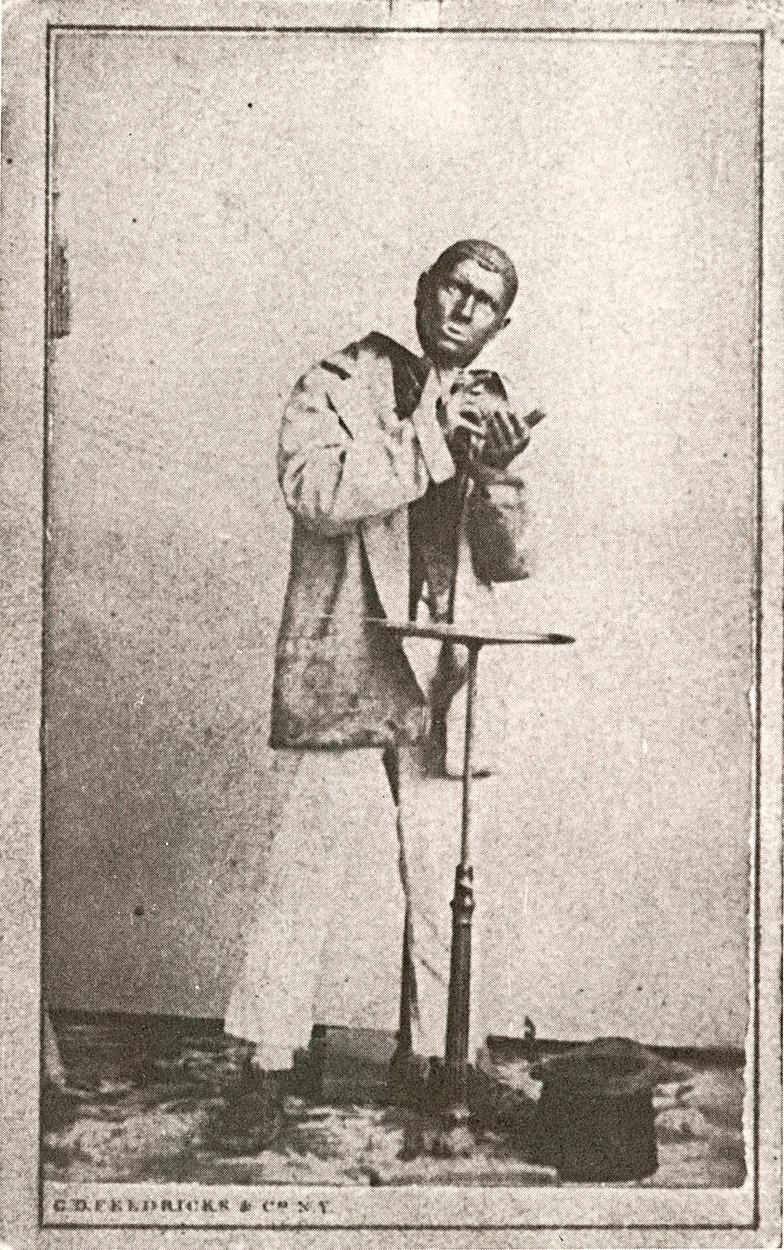 A photo of actor Dan Emmett in blackface.