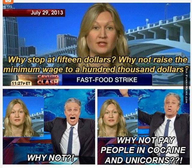 Jon Stewart on the minimum wage