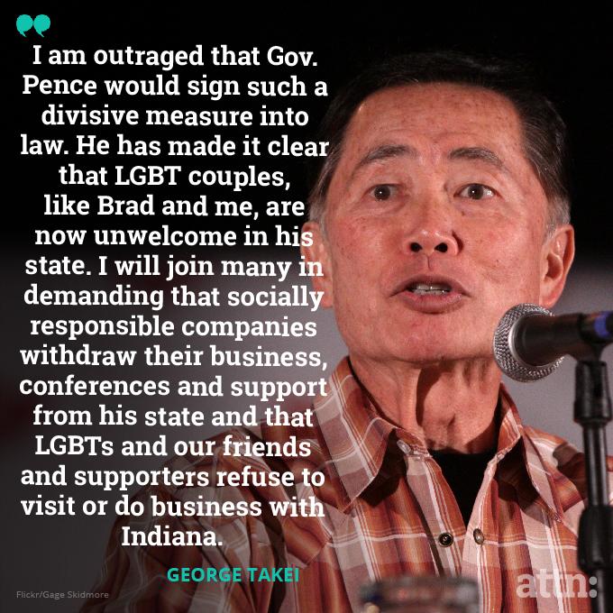 George Takei Will Boycott Indiana