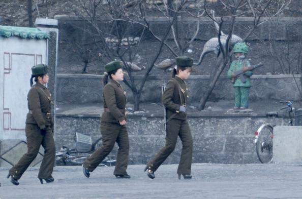 Korean Soldiers in High Heels