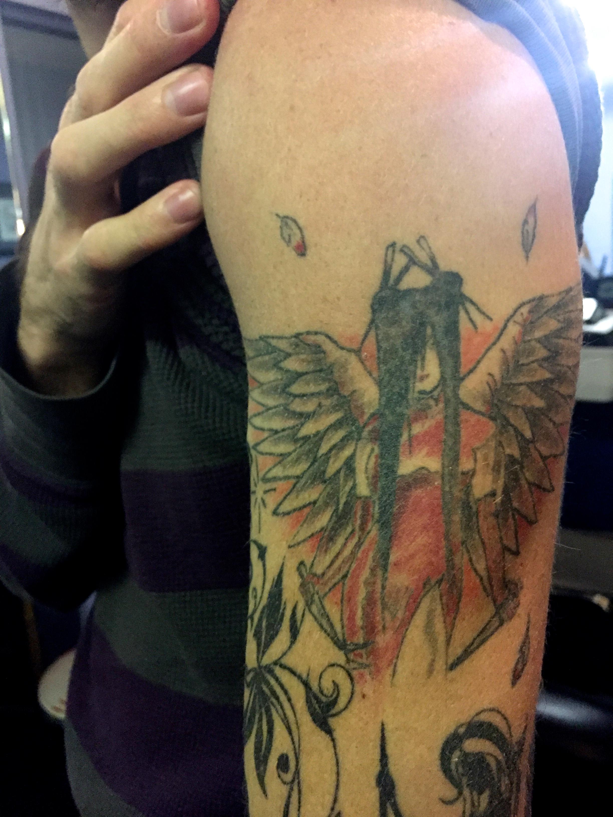 Herman's first tattoo