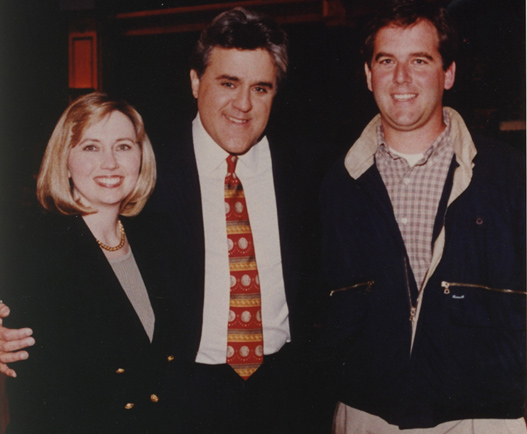 Teresa Barnwell and Jay Leno