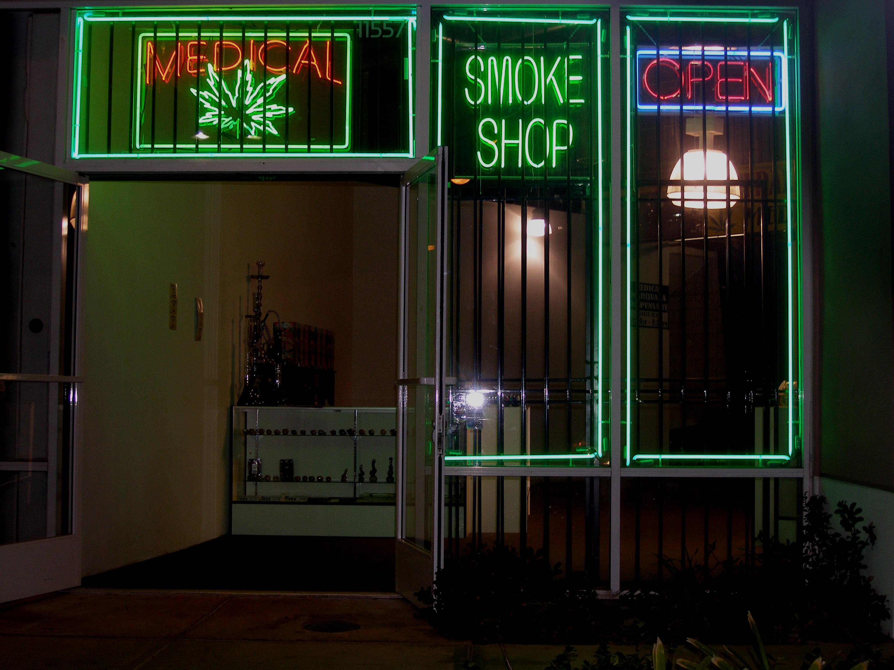 Image of marijuana shop in San Fernando Valley, California