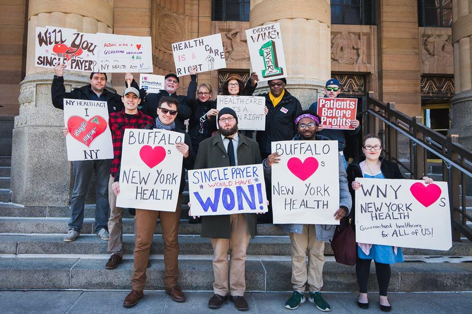 Healthcare protest in Buffalo