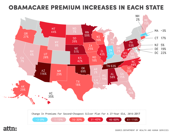 How Much Obamacare Premiums Will Rise in Each State - ATTN: