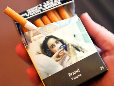 plain cigarette pack