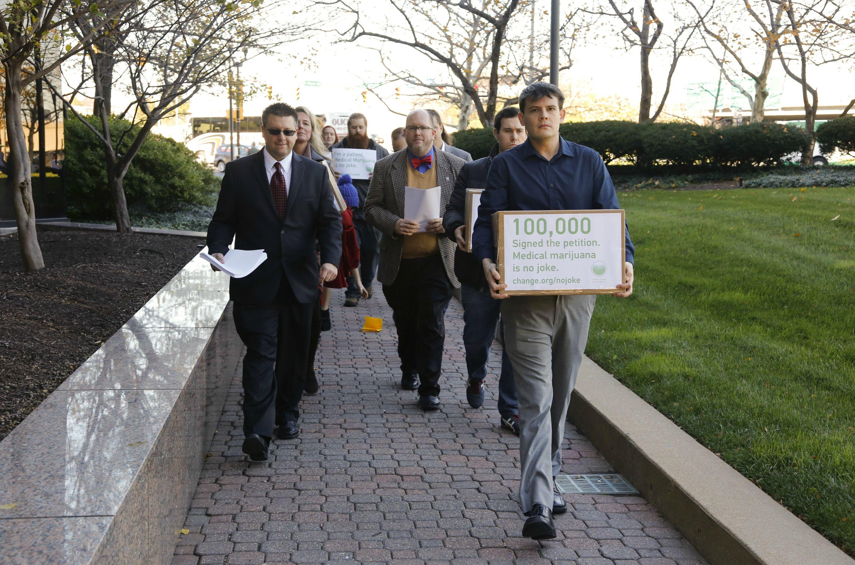 Advocates deliver petition to DEA