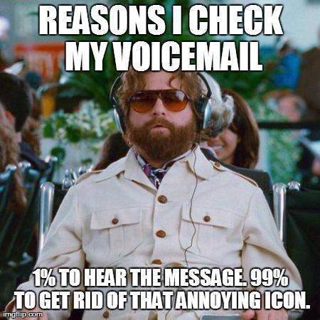 how to get to the voicemail