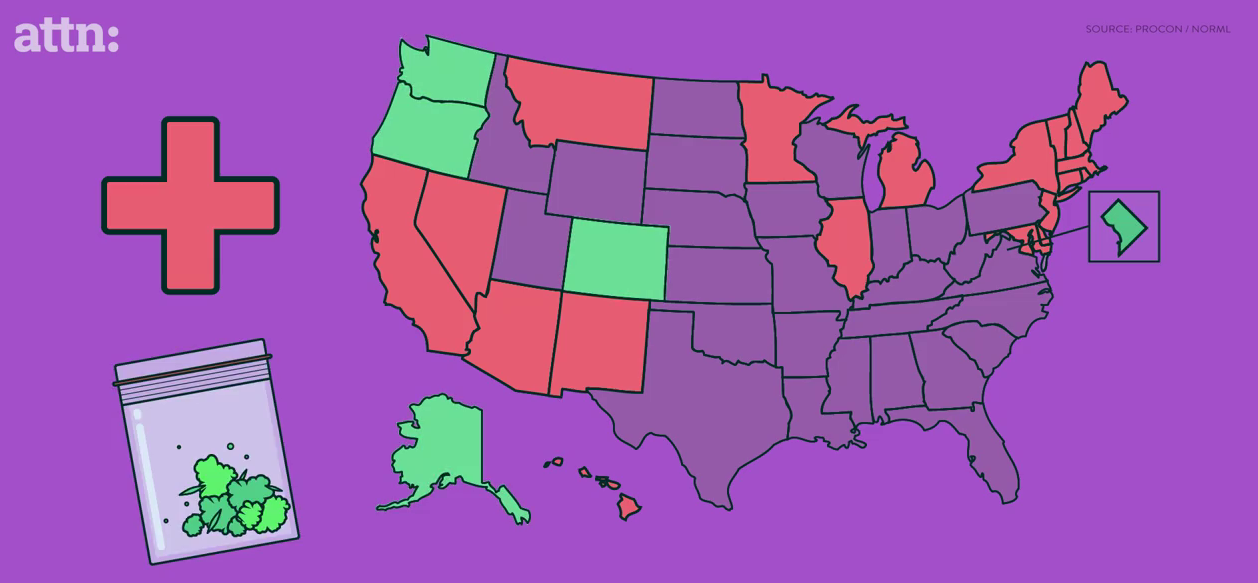 These States Could Have Legalized Marijuana After Next Year ATTN - Us map on weed laws