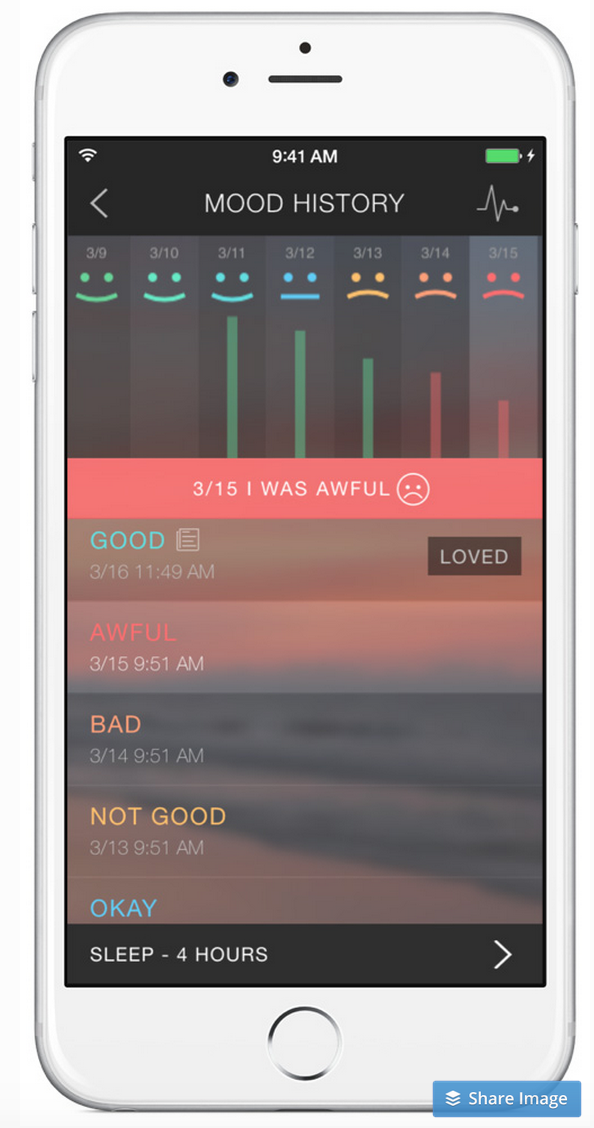 Pacifica Anxiety App Screenshot