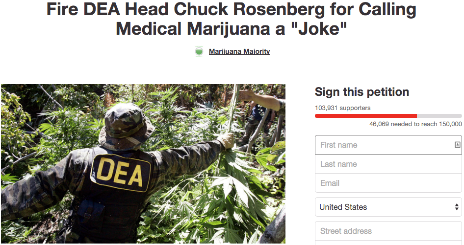 Petition calling for DEA Chief's ouster