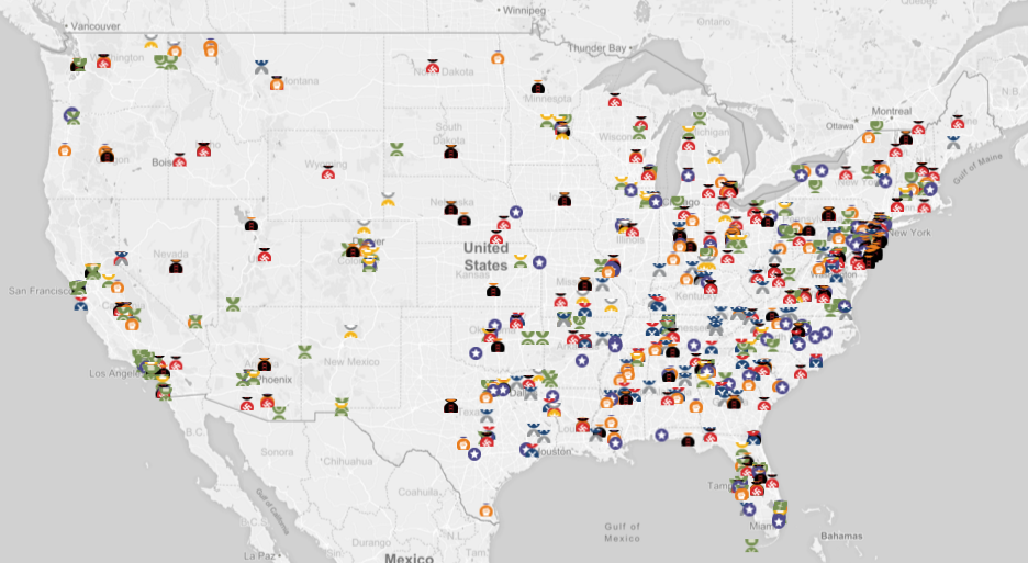 this map shows where active u s hate groups operate attn