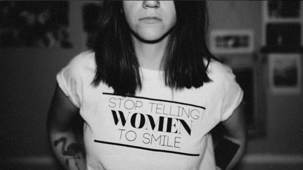 stop telling women to smile shirt