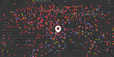 Hollywood Homeless Map