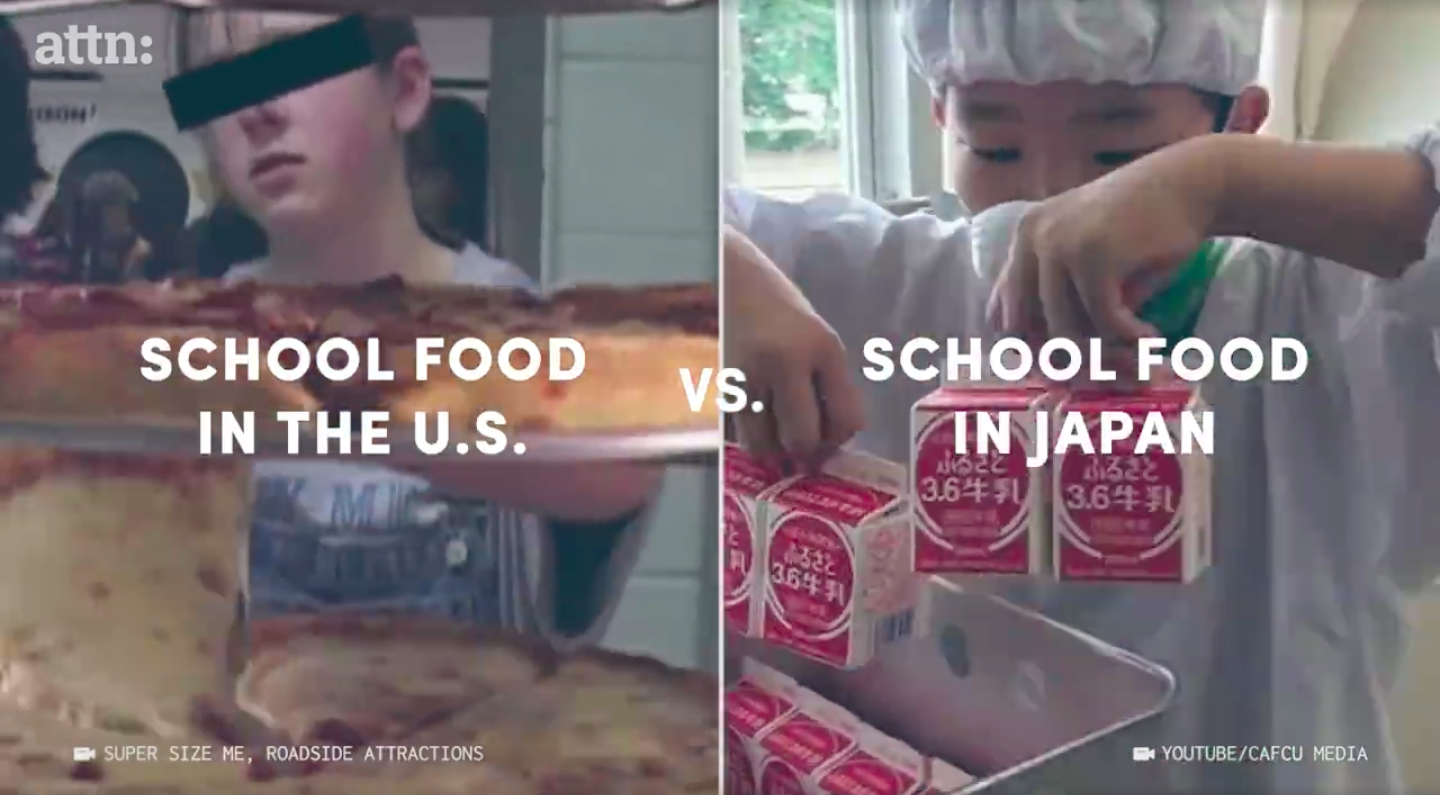 America vs. Japan school lunches