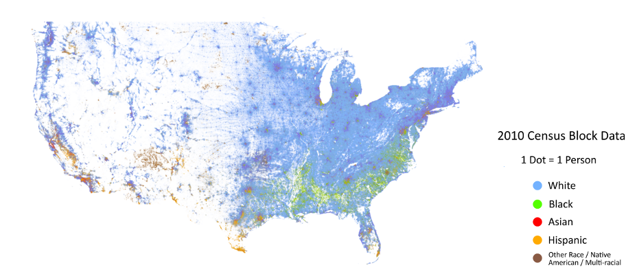Map Reveals How America Remains Racially Segregated ATTN - Segregated us map