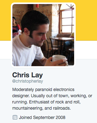 Chris Lay's Twitter