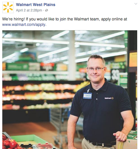 Wal-mart West Plains Facebook Page