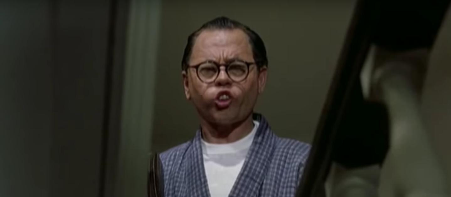 Mickey Rooney as Mr. Yunioshi in Breakfast At Tiffany's