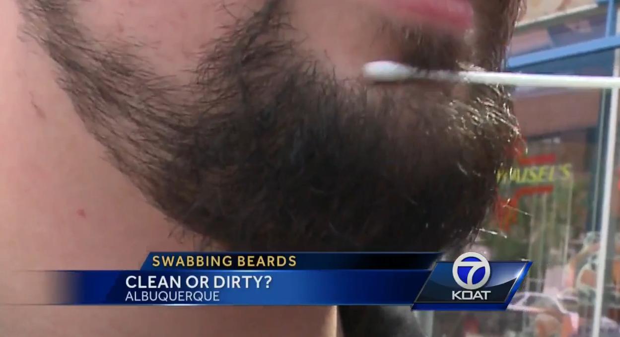 Beard swab.