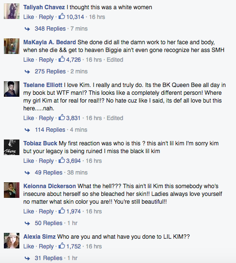 Lil Kim Facebook comments