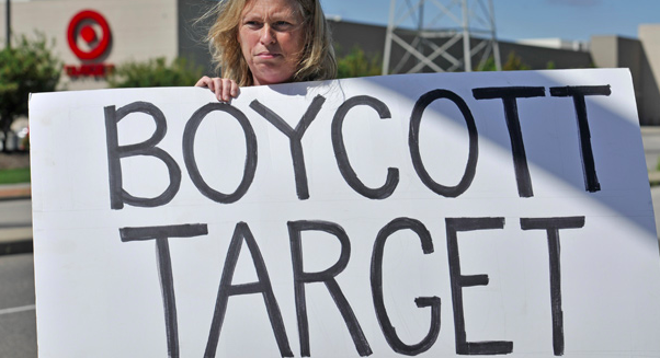 Protesting target