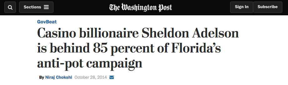 Washington Post Headline Adelson