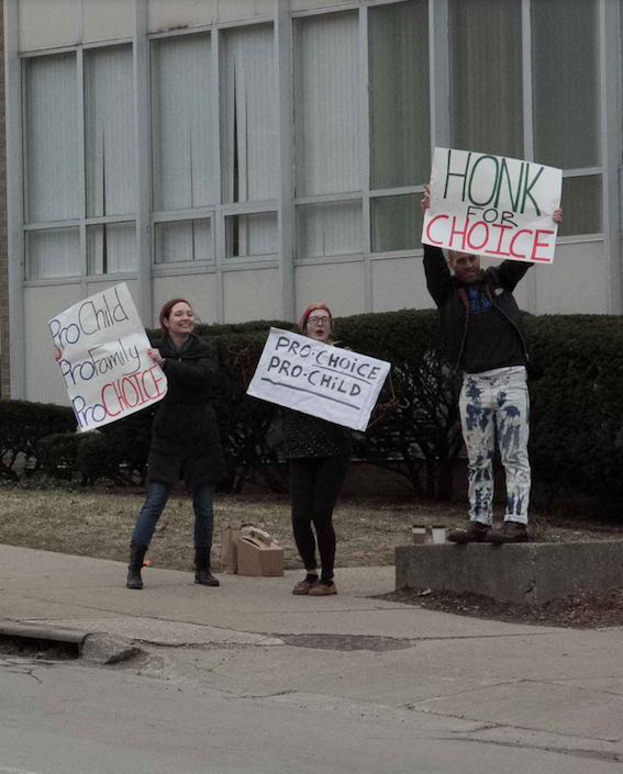 Pro-Choice Pro-Child Pro-Family Heritage Clinic For Women Honk for Choice Protesters April 03, 2014