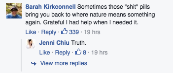 comment on Jenny Chiu Fb page
